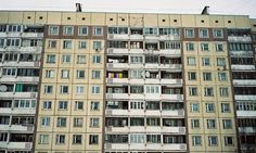 Apartment building in St Petersburg. Contemporary photographers have chosen to embrace the apparent desolation of Russia's suburbs. Photograph: Alexander Bondar