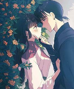 Inuyasha Fan Art, Inuyasha And Sesshomaru, Inuyasha Love, Inuyasha Quotes, Inuyasha Cosplay, Seshomaru Y Rin, Arte Sailor Moon, Miroku, Manga Couple