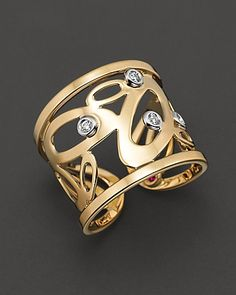 "Roberto Coin 18 Kt. ""Chic & Shine"" Diamond Ring | Bloomingdale's Wedding & Gift Registry"