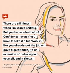 Molly Sims // We asked 13 extraordinary women on International Women's Day one question: When you're in a moment of doubt or fear, how do you move past those challenges in your life?