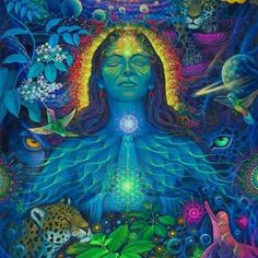 The Healing of Sacred Plants - Shamanic Medicine and the New Science - The Grand . Psychedelic Art, Sacred Plant, Psy Art, Spirited Art, Beautiful Fantasy Art, Goddess Art, Painting Workshop, Mystique, Hippie Art
