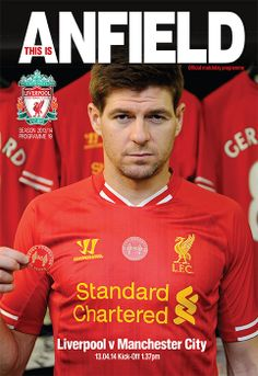 Programme from our amazing game against Manchester City! #LFC
