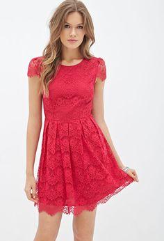 Eyelash Lace A-Line Dress #F21Contemporary