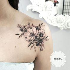 Mini Tattoos On shoulders; Tattoo Girls, Girl Tattoos, Cover Up Tattoos For Women, Shoulder Tattoos For Women, Tattoo Shoulder, Flower Tattoos On Shoulder, Leg Tattoos, Body Art Tattoos, Stomach Tattoos