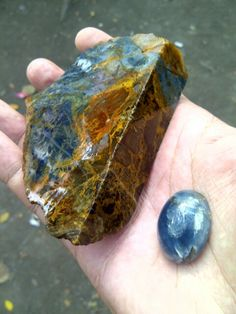 Blue Opal, rough and shaped. Blue and colourful