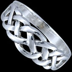 Silver ring, intertwined Silver ring, Ag 925/1000 - sterling silver. Ring - intertwined on the front, filled on the back.
