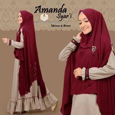 Diy Fashion Hijab, Mode Hijab, Maxis, Muslim, Amanda, Chic, Brown, Model, Pattern