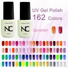 Pick Any 2 from 162 colors Gel Polish 5ml Long Lasting UV Gel Nail Polish  Soak Off UV Top Coat Led Gel Lamp Colored