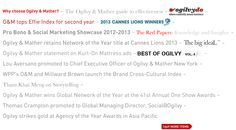 Ogilvy | Worldwide Advertising Firms, Ogilvy Mather, Pro Bono, Social Marketing, Insight, Knowledge, Learning, Studying, Teaching