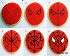 spiderman galletas decoradas decorated cookies chicuqui.com