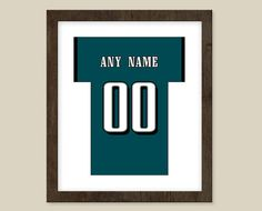Philadelphia Eagles Poster  Jersey Design   by CSportImages