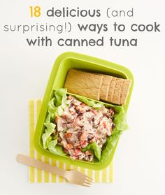 18 delicious and surprising canned tuna recipes to try Wrap Recipes, Fish Recipes, Vegetable Recipes, Seafood Recipes, Vegetarian Recipes, Cooking Recipes, Healthy Recipes, Lunch Snacks, Lunches