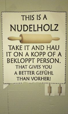 This Is A Nudelholz