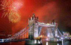 Photographic Print: Tower Bridge and Fireworks, London, England by Steve Vidler : London Background, London Eye, London City, Nye London, Rio Tamesis, Saint Germain En Laye, Guy Fawkes Night, London Nightlife, British Traditions
