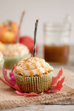 Salted Caramel Apple Cupcakes - Cupcake Daily Blog - Best Cupcake Recipes .. one happy bite at a time! Chocolate cupcake recipes, cupcakes