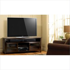 "75"" Wood TV Stand in Dark Espresso Finish - WAVS99175"