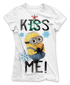 Camiseta chica Minion, Kiss Me. Gru: Mi Villano Favorito Estupenda camiseta de chica con la imagen del adorable Minion de la película Gru: Mi Villano Favorito.