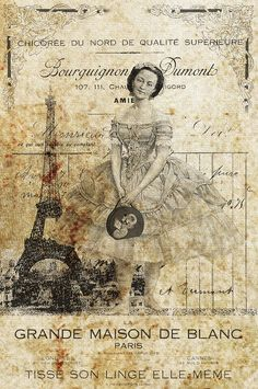 Distressed Vintage Ballerina Collage