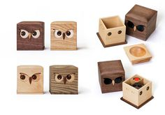 Owl Wooden Goodies from Japan   <3
