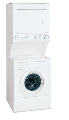 3. Frigidaire White 27 in. Electric Front Load: This unit is a close runner up to the Kenmore above. This model is slightly larger and is also a front loader which we love. We'd much rather bend to get our laundry out of the tank instead of reaching into a half opened lid that his the bottom of the dryer above. $1,113.49.