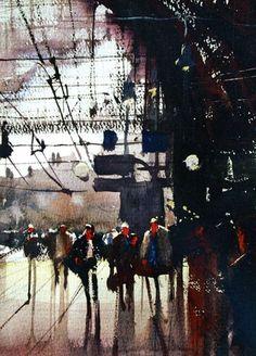 Alvaro Castagnet Railway Station Antwerpen #watercolor jd