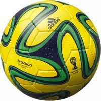 2014 FIFA ワールドカップ ブラジル大会 レプリカ ブラズーカ フットサル (イエロー×グリーン) Football Fans, Football Players, Wembley Stadium, Gliders, Soccer Ball, Slime, Pitch, Neon Clothing, Black