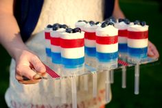 patriotic push up pops! I love jello and patriotic things, therefore I should like these.
