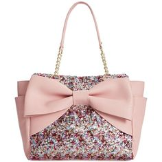 Queen of sparkles! Decked out in shimmering accents, this Macy's Exclusive shopper tote is a pretty way to start your day. By Betsey Johnson. Pink …