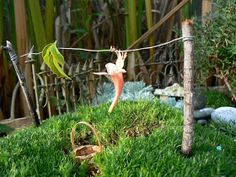 The Magic Onions :: A Waldorf Inspired Blog: How to make a Fairy's Washing Line.