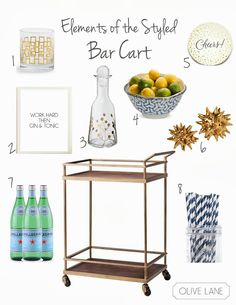 Olive Lane: Elements of the Styled Bar Cart Styling Target