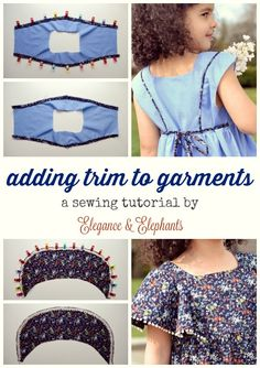 Project Run and Play: Guest Post: Adding Trim to Garments Tutorial by Elegance & Elephants