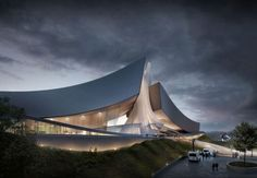 Tongyeong Concert Hall swooping to greet the heavens!