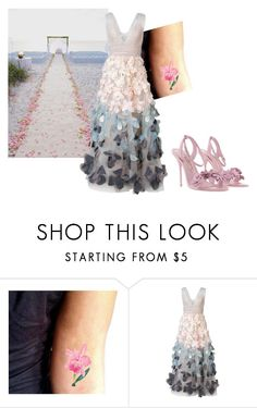 """""""beach wedding"""" by tiziana-enrico on Polyvore featuring moda, Notte by Marchesa e Sophia Webster"""