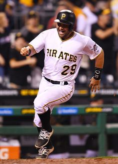 Francisco Cervelli Photos Photos - Francisco Cervelli #29 of the Pittsburgh Pirates celebrates after scoring the winning run during the eleventh inning against the Washington Nationals on September 23, 2016 at PNC Park in Pittsburgh, Pennsylvania. Pittsburgh won the game 6-5. - Washington Nationals v Pittsburgh Pirates