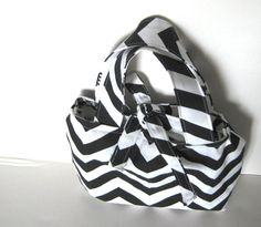 Small Purse Tote Bag Chevron Purse Black by SmiLeaGainCreations, $24.00