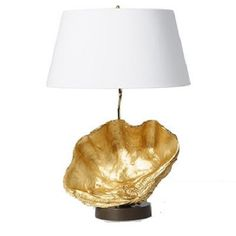 Barbara Cosgrove Gold Clam Shell Table Lamp