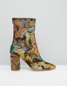 ASOS | ASOS ELMERY Jacquard Ankle Boots