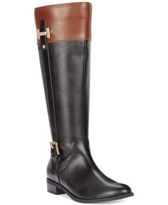 0ca1323dee9 Karen Scott Deliee Wide-Calf Riding Boots