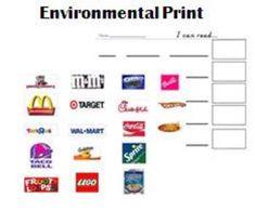 Environmental Print activity