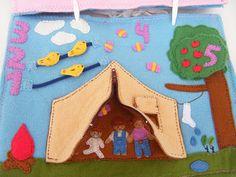 Pequenos Crafters: Livros de Feltro