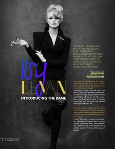 Glamoholic.com | Exclusive Interview With Ivy Levan: Introducing The Dame!http://www.glamoholic.com/20/4.html #ivylevan #glamoholic #magazine #music #celebrities