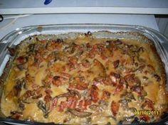 Das perfekte Blechfleisch ...ein Party-Rezept...-Rezept mit Bild und einfacher Schritt-für-Schritt-Anleitung: Gemüsezwiebeln in Ringe schneiden und auf…