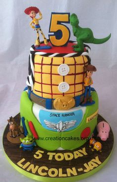 Toy Story Themed Tiered Birthday Cake