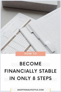How to become financially stable in ONLY 8 steps! If you're ready to end the paycheck to paycheck cycle and finally take control of your money, then these 8 steps are just for you! This will give you the financial freedom to live life how you want! | best money and personal finance tips | financial freedom | stop living paycheck to paycheck | #financialfreedom #financetips #bestmoneytips Financial Literacy, Financial Goals, Finance Blog, Finance Tips, Financial Stability, Savings Challenge, Money Management, Stables, Money Tips