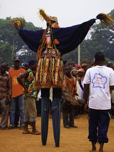 #Stiltdancer in #IvoryCoast - we visit a village where we witness this incredible dance on our #overland trips between #Accra and #Freetown