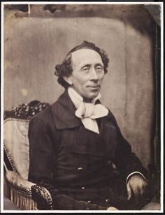 Portræt af H. C. Andersen  foto. F. Petersen, 1853  Saltpapiraftryk, spejlvendt  201 x 154 mm