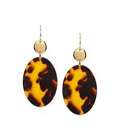 Lauren Ralph Lauren Tortoise Disk Double Drop Earrings #Dillards