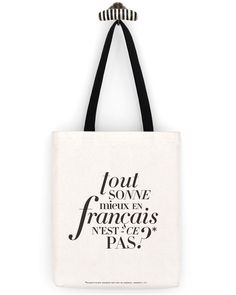 """Better in French"" Tote 