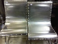 Riveted metal chairs