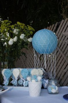 Hot air balloon chocolates and centerpieces
